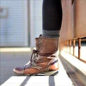 Steve Madden / Troopa Brown Leather Boots